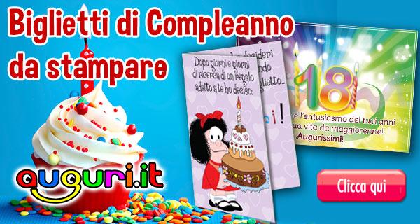Estremamente Biglietti Gratis Auguri di Compleanno da stampare - Auguri.it EF46